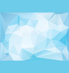 frozen ice low-poly background vector image vector image