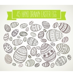 Hand drawn Easter eggs vector image vector image