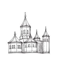 Sketch of Church Hand drawn vector image