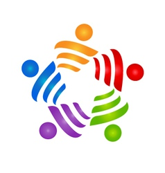 Teamwork strategies logo vector image vector image