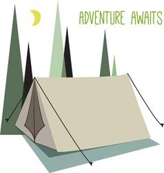 Adventure Awaits vector image