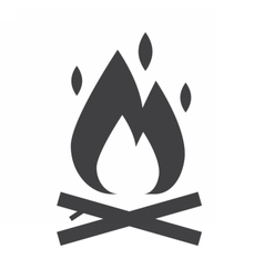Bonfire Outline Icon vector image
