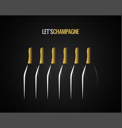 champagne bottle concept design background vector image vector image