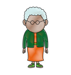 Woman adult character standing people on white vector