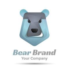 Bear face icon Volume Logo Colorful 3d Design vector image vector image
