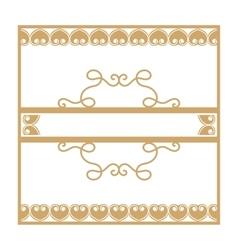 Gold vintage frame with vegetable elements vector image
