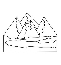 isolated mountains view vector image