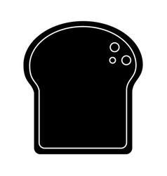 Slice bread bakery pictogram vector