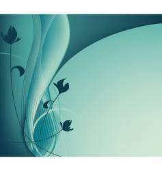 turquoise spring mood vector image vector image