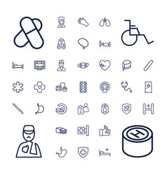 37 hospital icons vector
