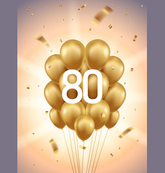 80th year anniversary background vector