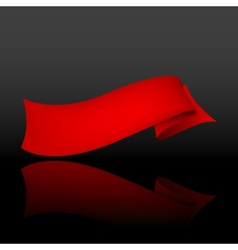 abstract background with a red ribbon vector image