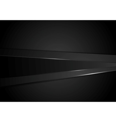Abstract black stripes corporate background vector