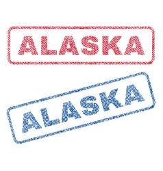 Alaska textile stamps vector