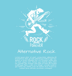 Alternative rock music forever vector
