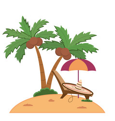 an island with palm-trees vector image