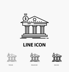 Architecture bank banking building federal icon vector