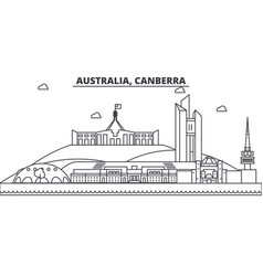 Australia canberra architecture line skyline vector