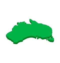 Australia map icon isometric 3d style vector image