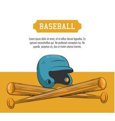 Baseball sport poster vector