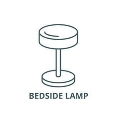 bedside lamp line icon bedside lamp vector image