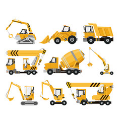 big set construction equipment special vector image