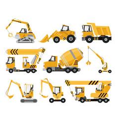 big set construction equipment special vector image