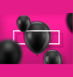 Black balls on pink background vector