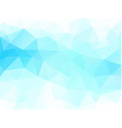blue green geometric background vector image