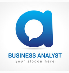 business analyst a logo vector image