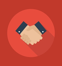 Business Flat Icon Handshake vector image