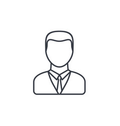 businessman avatar thin line icon linear vector image