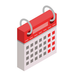 calendar week day icon isometric style vector image