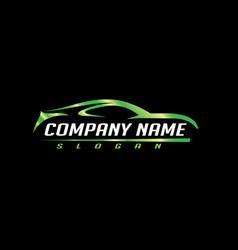 car logo 3 black background vector image