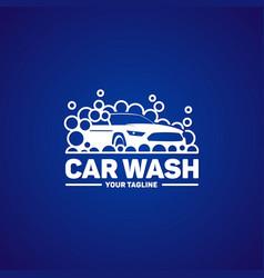 car washing logo template vector image