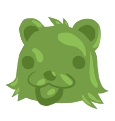Cartoon green gum bear icon vector image