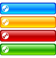 CD buttons vector image