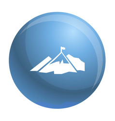 climb mountain flag icon simple style vector image