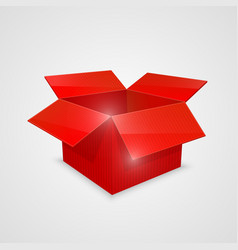 Color open box red vector
