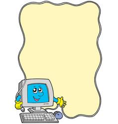 Computer frame vector
