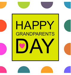 Design template of happy grandparents day vector