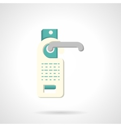 Do not disturb sign flat icon vector