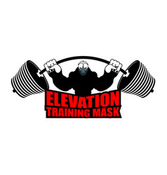 Elevation training mask fitness athlete and vector