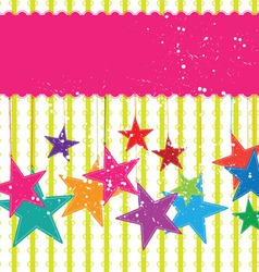 Festival star background vector