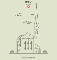 fraumunster church in zurich vector image
