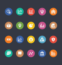 Glyphs Colored Icons 17 vector