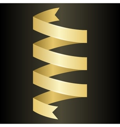 Golden twisted ribbon vector