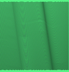 Green background of lines and waves green vector