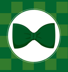 Green bow tie st patricks day vector