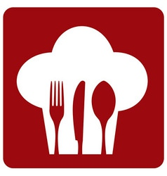 Icon chef restaurant vector image